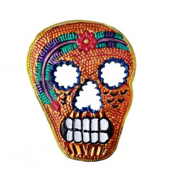 Orange Calavera Tin ornament