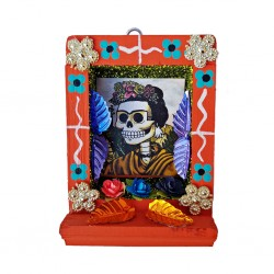 Orange Small Catrina shrine