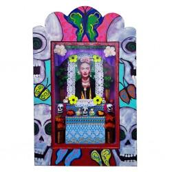Niche peinte Frida Ofrenda Bleu
