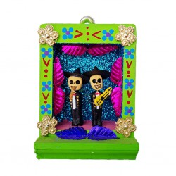 Green Small Mariachis shrine