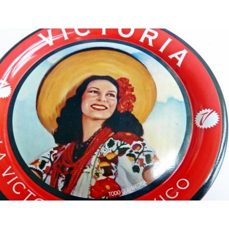 Beer coaster retro pinup Victoria