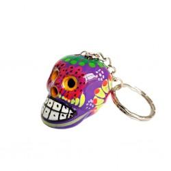 Purple Calavera Keychain