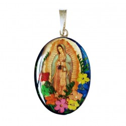 Virgin of Guadalupe Silver pendant