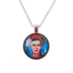 Red braid Frida necklace