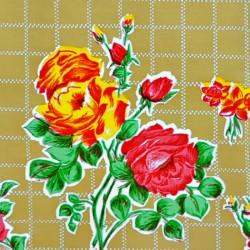 Tan Rosedal oilcloth offcut