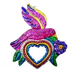 Espejo sagrado corazón Pájaro