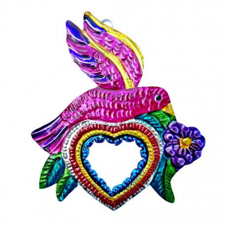 Bird Sacred heart mirror