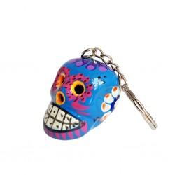 Blue Calavera Keychain