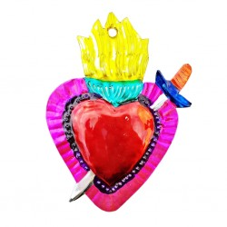 Sacred heart with dagger