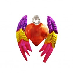 Pink Winged sacred heart