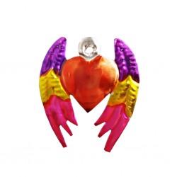 Sagrado corazón alado Rosa
