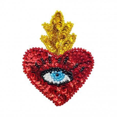 Parche de lentejuelas Sagrado corazón