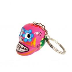 Pink Calavera Keychain
