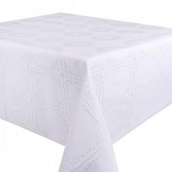 White Lace Oilcloth