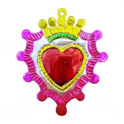 Coeur sacré à couronne Rose