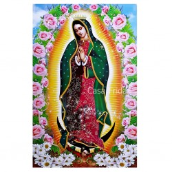 Poster Vierge de Guadalupe Rosas
