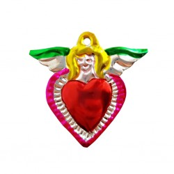 Green Angel Tin sacred heart