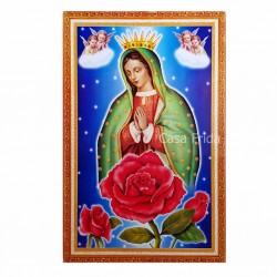 Angeles Virgin de Guadalupe Poster