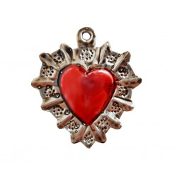 Flowery halo Tin sacred heart
