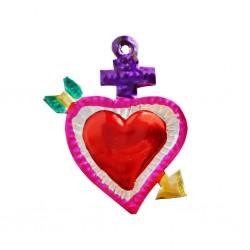 Petit coeur sacré Flèche Violet