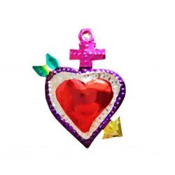 Petit coeur sacré Flèche Rose