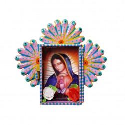 Nicho mini de lata Virgen de Guadalupe Amarillo