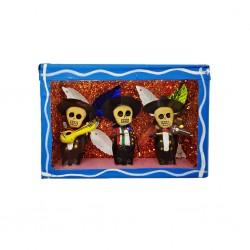 Cajita de calaveras Mariachis Azul