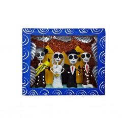 Boîte vitrine Mariage Bleu