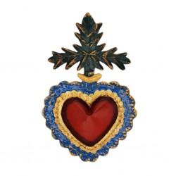 Cross of leaves Sacred heart