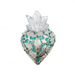 Petit Coeur avec milagros Turquoise