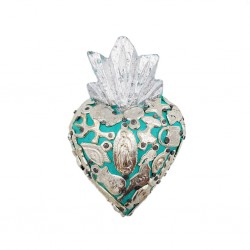 Turquoise Small Milagros heart