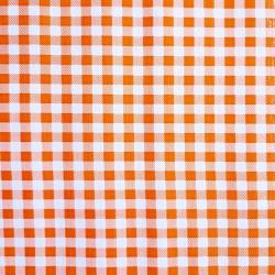 Orange Gingham oilcloth