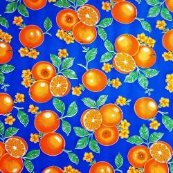 Hule Naranjas Azul
