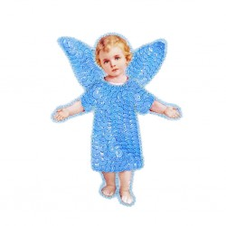 Parche de lentejuelas Ángel Azul