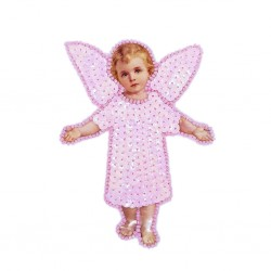 Pink Angel sequin patch