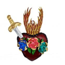 Sagrado corazón con daga