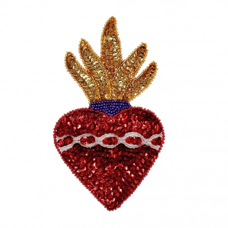 Sacred heart Sequin patch
