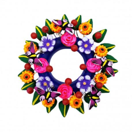 Corona Flores y mariposas