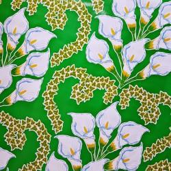 Green Alcatraz Oilcloth