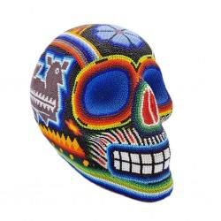 Cráneo mexicano Huichol grande