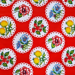 Red Granadas Oilcloth