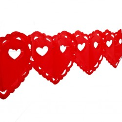 Red Heart paper bunting