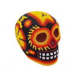Small Huichol beaded skull