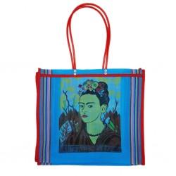 Cabas Frida Kahlo Bleu