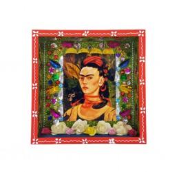 Nicho Frida Kahlo Autorretrato con chango