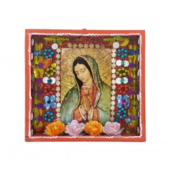Red Virgin of Guadalupe shrine