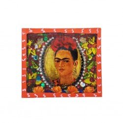 Oval portrait Frida Kahlo shrine