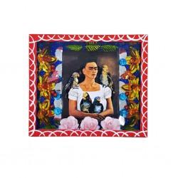 Frida and parrots shrine