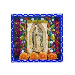 Niche Vierge de Guadalupe Bleu