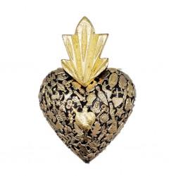 Black Milagros heart